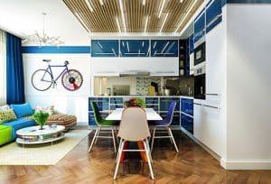 trang trí trần nhà bằng gỗ 3