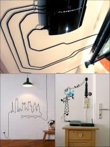 cách che đường dây diện trong nhà đơn giản