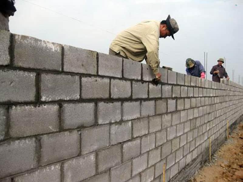 Định mức thi công xây gạch ba banh