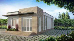 Mẫu thiết kế nhà cấp 4 mái bằng giá rẻ 100 triệu
