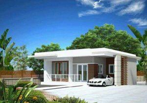 Thiết kế nhà phố mái bằng giá rẻ - Mẫu số 2