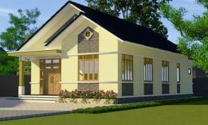 Mẫu thiết kế nhà đẹp nông thôn hiện đại 100m2