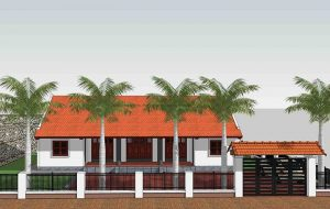 Mẫu thiết kế nhà cấp 4 nông thôn hiện đại mái thái
