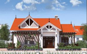 Thiết kế mẫu nhà vườn cấp, kiến trúc bắt mắt