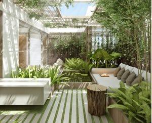 thiết kế sân vườn sang trọng