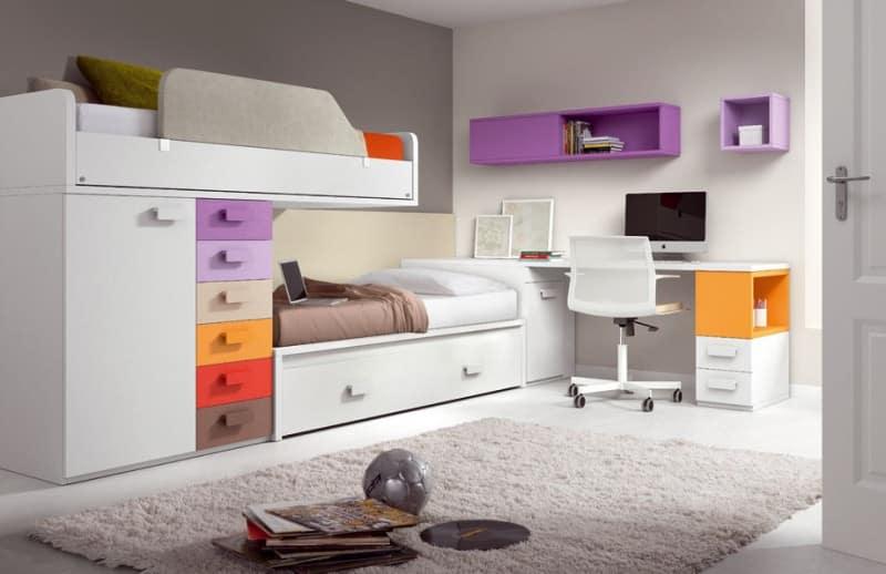 thiết kế giường đa năng, tiện dụng