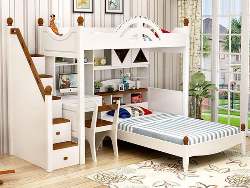 mẫu thiết kế giường có bàn học