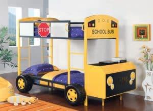 Mẫu thiết kế giường tầng với hình ô tô