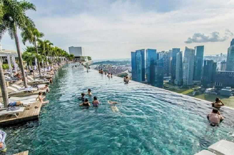 Tiêu chuẩn thiết kế bể bơi khách sạn dạng tràn