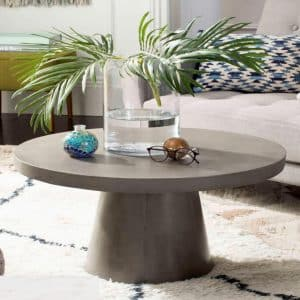 mẫu thiết kế mặt bàn bê tông phòng khách sang trọng
