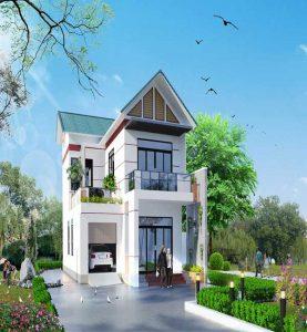 mẫu thiết kế nhà phố sân vườn