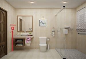 hướng dẫn cách bố trí ổ cắm điện phòng tắm