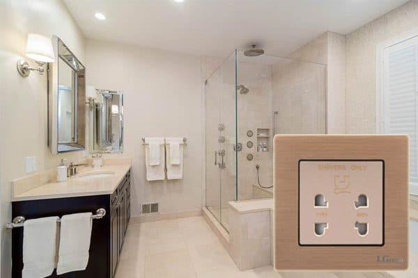 lắp ổ điện trong nhà tắm
