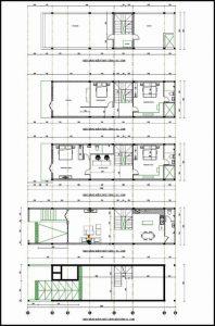 bản vẽ thiết kế nhà mái bằng