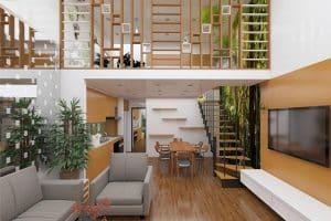 Mẫu thiết kế nhà gác lửng đẹp - hiện đại