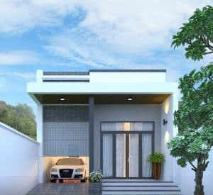 Mẫu thiết kế nhà gác lửng mái 2021 bằng