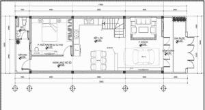 Mẫu bản vẽ thiết kế nhà gác lửng dưới 100 triệu