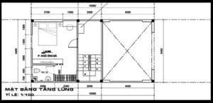 Mẫu Bản vẽ thiết kế nhà gác lửng dưới 100 triệu số 2