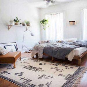 Tấm trải sàn phòng ngủ