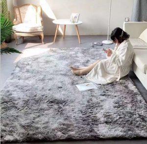 Mẫu thiết kế thảm xù mang màu sắc hiện đại