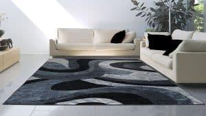 Mẫu thảm trải sàn phòng khách hình vuông