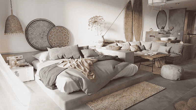 các phong cách thiết kế trang trí phòng ngủ nhỏ không giường
