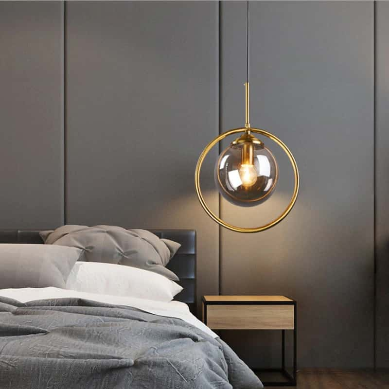 Đèn thả trang trí phòng ngủ nhỏ không giường