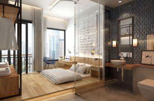 mẫu trang trí phòng ngủ nhỏ không giường tinh tế