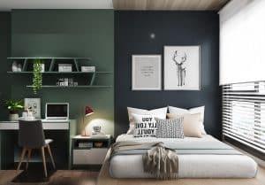 trang trí phòng ngủ nhỏ không giường 2021