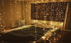 Đèn led trang trí phòng ngủ nhỏ không giường