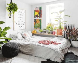 trang trí phòng với gam màu mát