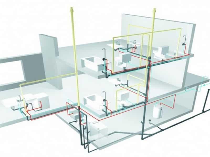 Cách lắp ống nước chảy mạnh trong nhà