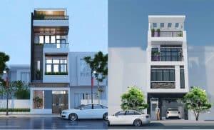 mẫu nhà phố 4 tầng phong cách hiện đại