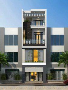 mẫu nhà phố 4 tầng phong cách sang trọng