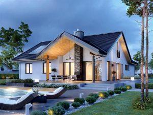 mẫu xây nhà cấp 4 trọn gói sang trọng