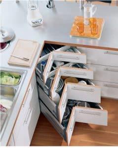 Thiết kế hộc kéo tủ bếp thông minh