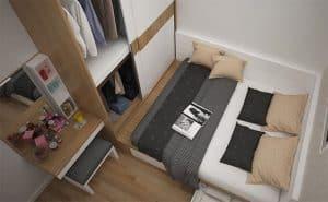 mẫu thiết kế phòng đơn giản tiện lợi