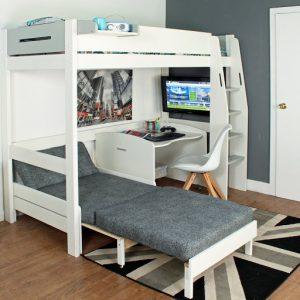 Mẫu thiết kế giường tầng gấp thông minh
