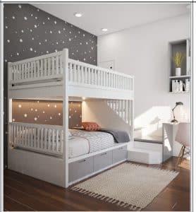 mẫu thiết kế giường tầng trẻ trung